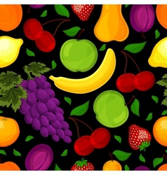 seamless pattern for a healthy lifestyle vector image vector image