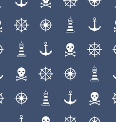 Seamless pattern with nautical symbols vector image