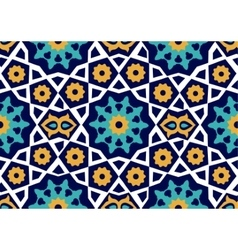 Seamless Uzbek pattern Ceramic tile imitating vector
