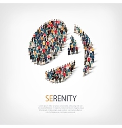 Serenity people sign 3d vector