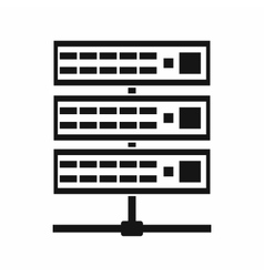 Servers icon simple style vector