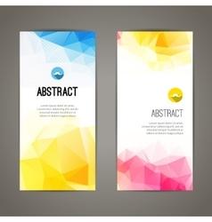 Set of polygonal triangular colorful geometric vector image