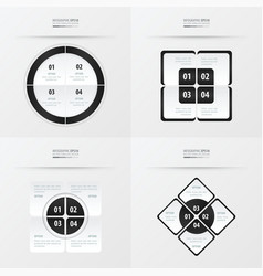 Set of presentation template black and white color vector