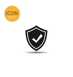 shield icon isolated flat style vector image