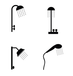 shower head in black vector image