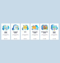 smart brain mobile phone games logic game quiz vector image
