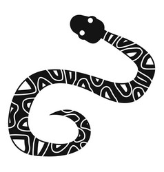 Snake icon simple style vector