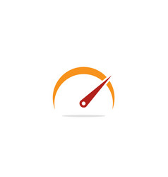 Speed meter icon logo vector