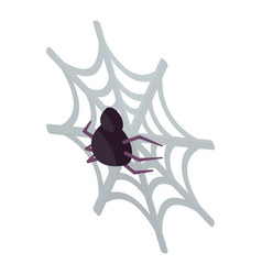 spider home icon isometric style vector image