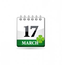 st patrick calendar vector image