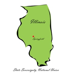 State of Illinois vector