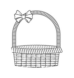 Straw basket icon image vector