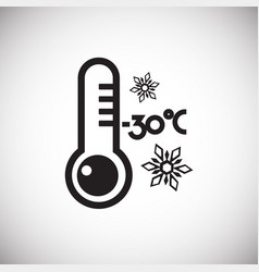 thermometer on white background vector image