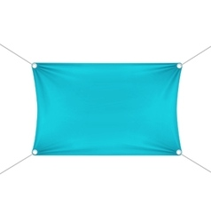 Turquoise Blank Empty Horizontal Banner vector image