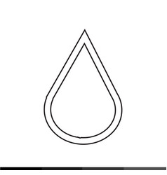 water drop icon design vector image