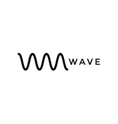 wave icon design template isolated vector image