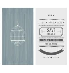 Wedding invitation card save date vector