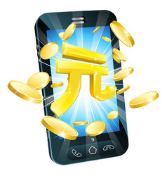 yuan money phone concept vector image