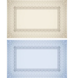 Certificate Backgrounds vector image