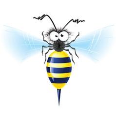 cheerful bee vector image