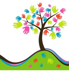 Decorative abstract hand tree vector image vector image