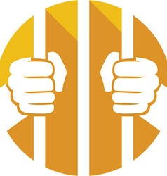Prison Cell Icon vector image vector image