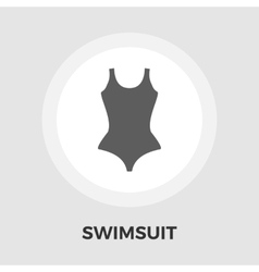 Swimsuit Flat Icon vector image vector image