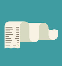 Receipt icon in a flat style isolated on a vector