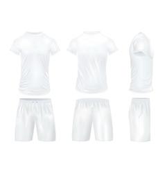 Shirts And Shorts Icon Set vector image