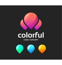 Creative abstract logo vector image