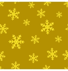 Gold snowflakes Golden seamless background vector image
