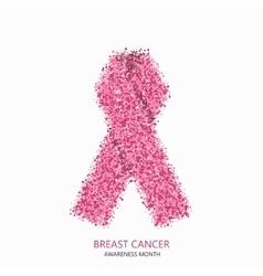modern breast cancer awareness circles vector image
