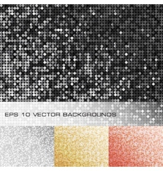 Set of sparkle sequin backgrounds vector image vector image