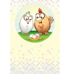 chickens family vector image