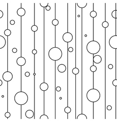 Circle on line seamless pattern vector image