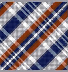 diagonal tartan seamless texture in blue and vector image vector image
