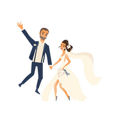 groom and pride dancing isolated vector image vector image