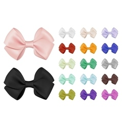 realistic bow set Template for design vector image vector image
