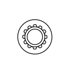 Settings line icon mobile sign and cogwheel vector