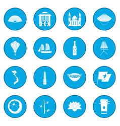 vietnam icon blue vector image