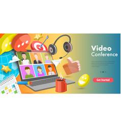 3d conceptual video vector image