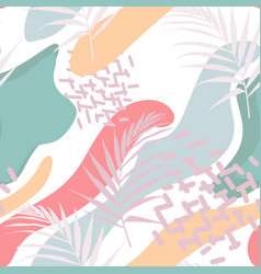 abstract floral element paper collage vector image