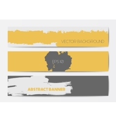 Abstract grunge banner templates vector image