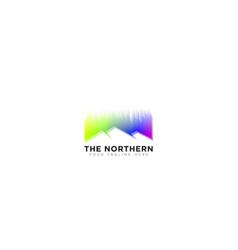 Abstract logo northern lights logo design vector