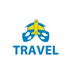 Air travel logo vector