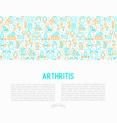 Arthritis concept with thin line icons vector