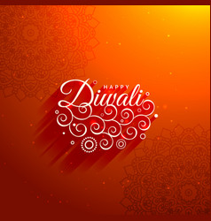 Beautiful diwali greeting background vector
