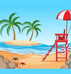 beautiful tropical beach island vector image