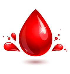 Blood drop red drop vector