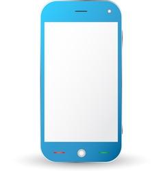 Blue cellphone vector